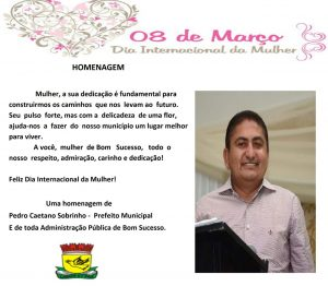 Read more about the article Pedro Caetano homenageia as Mulheres BomSucessense!